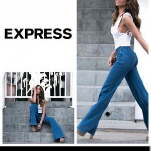 EXPRESS mid rise stretch slim flare jeans Size 7/8